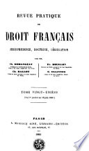 Revue Pratique De Droit Francais