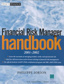 Financial Risk Manager Handbook 2001 2002