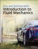 Pdf Fox and McDonald's Introduction to Fluid Mechanics Telecharger