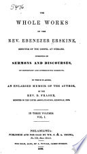 The Whole Works Of The Rev Ebenezer Erskine Minister Of The Gospel At Stirling