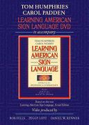 Learning American Sign Language DVD