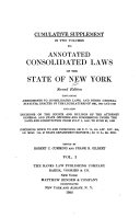 Annotated Consolidated Laws of the State of New York as Amended to January 1  1918