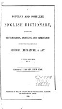 Popular and Complete English Dictionary
