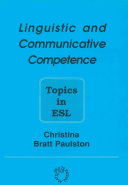 Linguistic and Communicative Competence