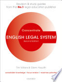 English Legal System Concentrate  : Law Revision and Study Guide