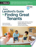 Every Landlord s Guide to Finding Great Tenants Book