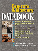 Concrete and Masonry Databook