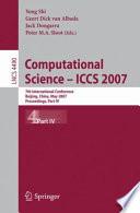Computational Science - ICCS 2007