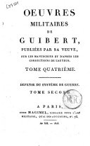 Oeuvres Militaires de Guibert Tome II