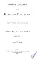 Annual Report Of The Board Of Education Book PDF