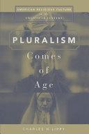 Pluralism Comes of Age Pdf/ePub eBook