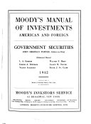 Moody s Municipal   Government Manual