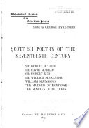 Scottish Poetry of the Seventeenth Century