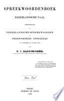 Spreekwoordenboek Der Nederlandsche Taal