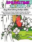 Large Print Coloring Book for Adults