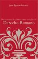 Diccionario de definiciones y reglas de Derecho Romano