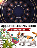 Adult Coloring Book 3 Books in 1