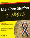 U S  Constitution For Dummies