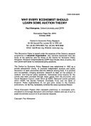 Why Every Economist Should Learn Some Auction Theory