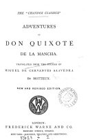 Adventures of don Quixote de la Mancha  Tr  by Motteux  New  revised ed