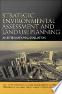 Strategic Environmental Assessment And Land Use Planning PDF
