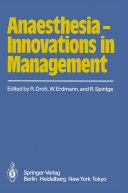 Anaesthesia — Innovations in Management ebook