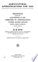 Agricultural Appropriations for