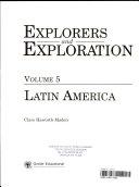 Explorers and Exploration  Latin America