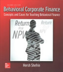Behavioral Corporate Finance Book