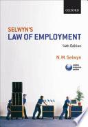 Selwyn s Law of Employment Book