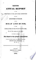 Annual Report Of The Directors Of The New York Institution For The Instruction Of The Deaf And Dumb