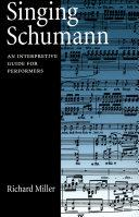 Singing Schumann