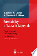 Formability of Metallic Materials Book