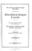 The American Aberdeen Angus Herd Book Book PDF