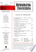"""""""Refrigeration Engineering"""" by United States. Dept. of Commerce. Office of Technical Services"""