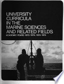 University Curricula in the Marine Sciences and Related Fields