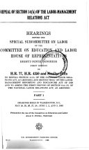 Repeal of Section 14 b  of the Labor Management Relations Act  Hearing 89 1