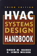 Hvac Systems Design Handbook Book PDF