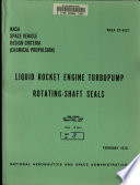 Liquid Rocket Engine Turbopump Rotating shaft Seals