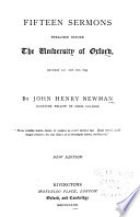 Fifteen Sermons Preached Before the University of Oxford, Between A.D. 1826 and 1843