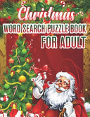 Christmas Word Search Puzzle Book For Adult