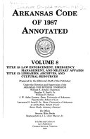 Arkansas Code Of 1987 Annotated