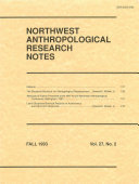 Northwest Anthropological Research Notes [Pdf/ePub] eBook