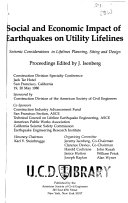 Social and Economic Impact of Earthquakes on Utility Lifelines