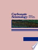 Carbonate Seismology Book