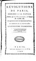 Révolutions de Paris, dédiées à la nation et au district des Petits-Augustins