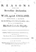Pdf Reasons for an Immediate Declaration of War, Against England