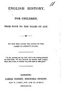 English history for children, by one who loves the souls of the lambs of Christ's flock [R. Marks].