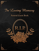R I P  In Loving Memory Funeral Guest Book
