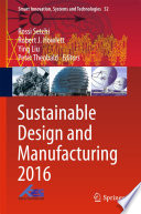 Sustainable Design and Manufacturing 2016 Book